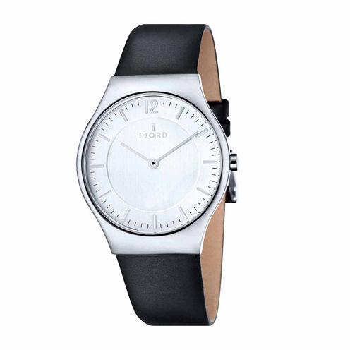 Fjord Mens Black Strap Watch-Fj-3025-02