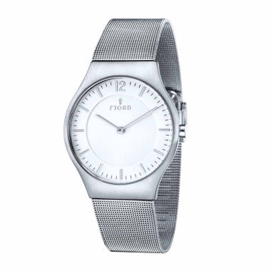 jcpenney.com | Fjord Mens Silver Tone Expansion Watch-Fj-3025-22