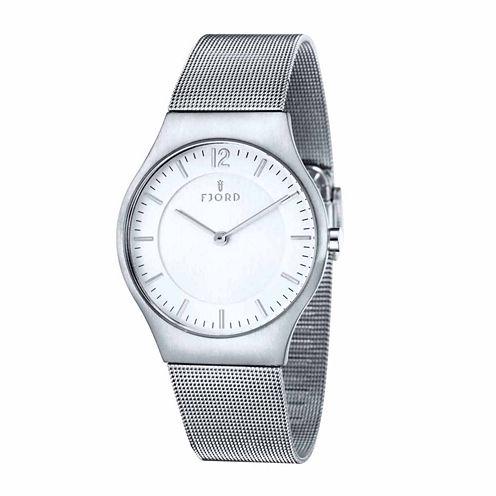 Fjord Mens Silver Tone Expansion Watch-Fj-3025-22