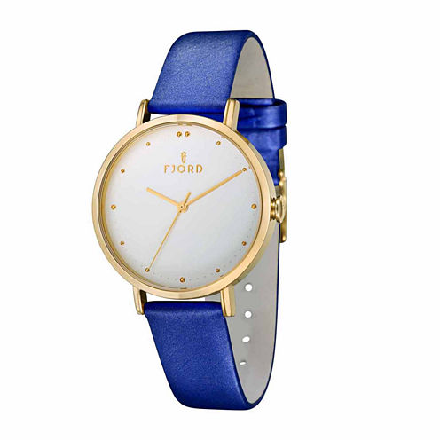 Fjord Womens Blue Strap Watch-Fj-6019-04