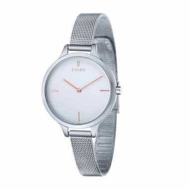 jcpenney.com | Fjord Womens Silver Tone Expansion Watch-Fj-6027-22