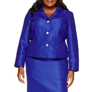 jcpenney.com | R & K Originals Long Sleeve Button Front Skirt Suit Set-Plus
