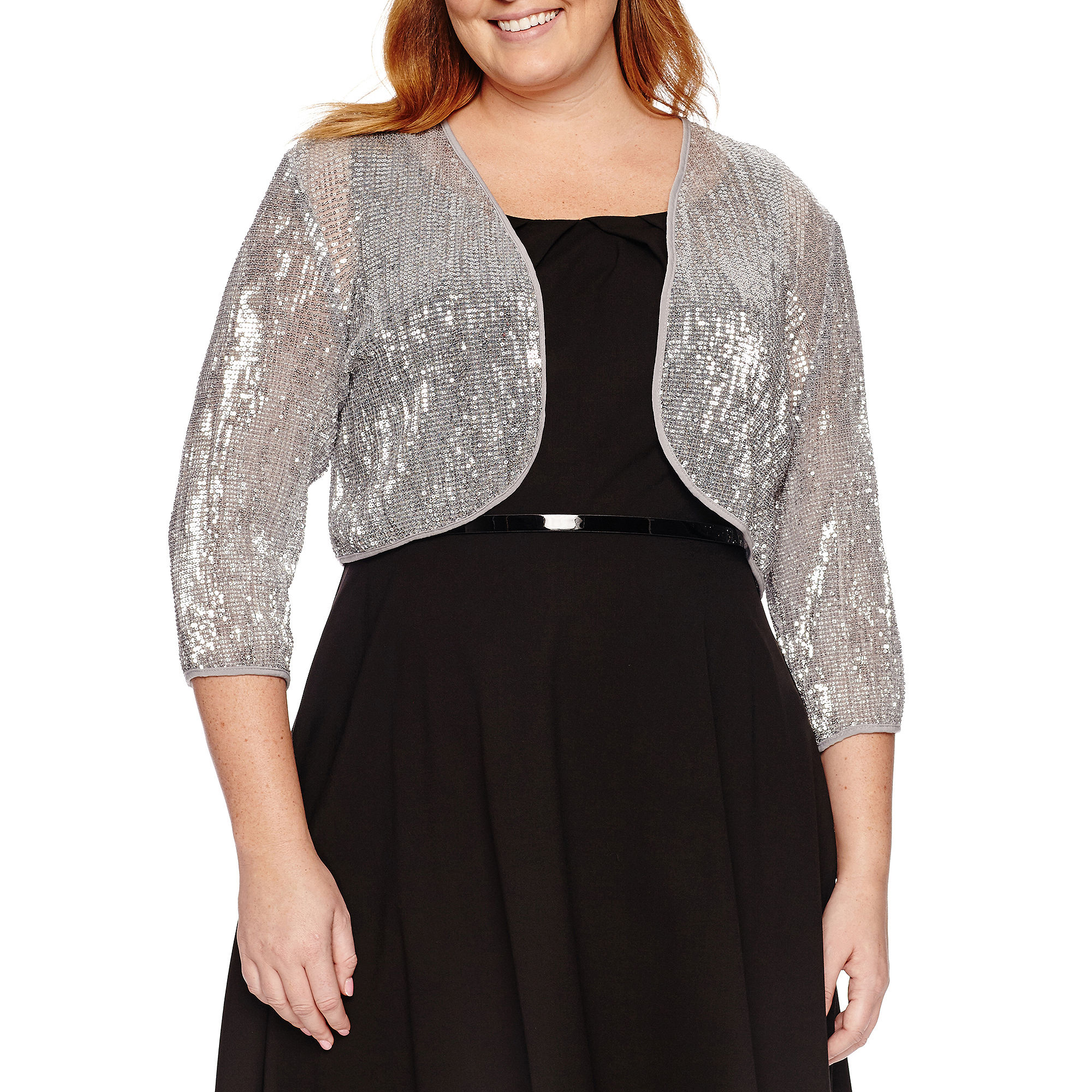 Studio 1 Sequin Shrug-Plus