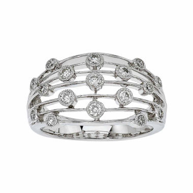 jcpenney.com | Womens 3/8 CT. T.W. White Diamond 14K Gold Cocktail Ring