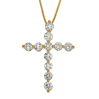 jcpenney.com | Womens 2 CT. T.W. White Diamond 14K Gold Pendant Necklace