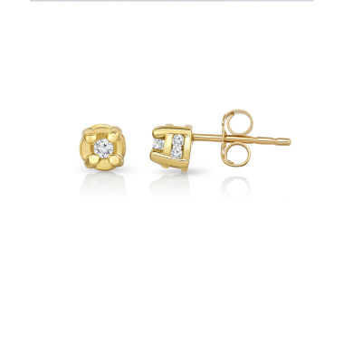jcpenney.com | 1/6 CT. T.W. Round White Diamond 10K Gold Stud Earrings