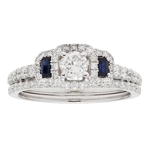 Womens 1 1/4 CT. T.W. White Diamond 14K Gold Bridal Set