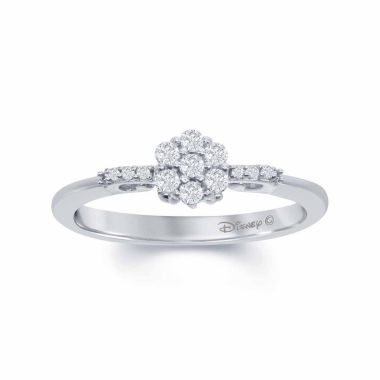 "jcpenney.com | Enchanted by Disney 1/4 C.T. T.W. Diamond 10K White Gold ""Cinderella"" Carriage Ring"