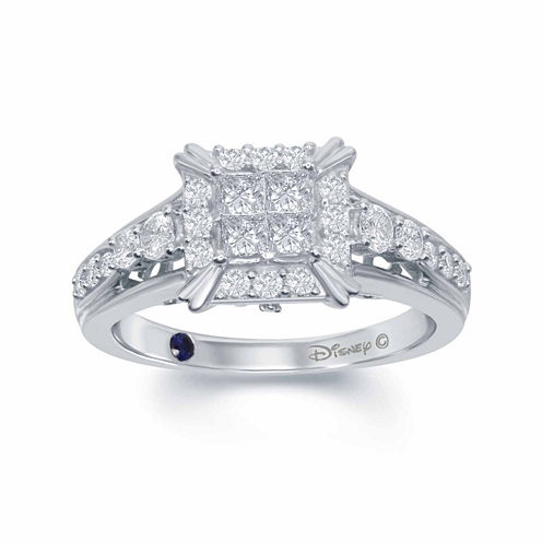 "Enchanted by Disney 3/4 C.T. T.W. Diamond 14K White Gold ""Cinderella"" Carriage Ring"