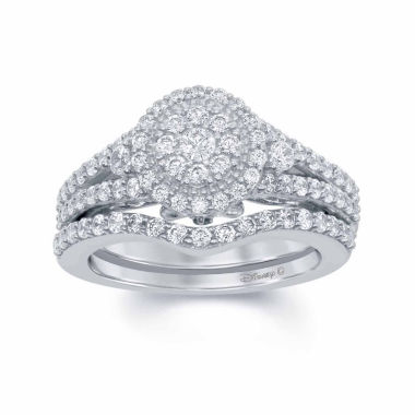 "jcpenney.com | Enchanted by Disney 1 C.T. T.W. Diamond & Blue Saphhire 14K White Gold ""Cinderella"" Ring"