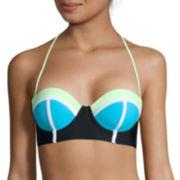 Arizona Colorblock Push-Up Midkini Swim Top