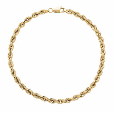 jcpenney.com | 14K Yellow Gold 1.3mm Rope Chain Bracelet