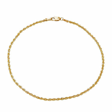 jcpenney.com | 14K Yellow Gold 2.5mm Rope Chain Bracelet