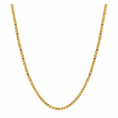 "jcpenney.com | 14K Yellow Gold 1.15mm 16"" Twisted Box Chain Necklace"