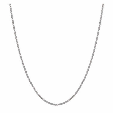 "jcpenney.com | 14K White Gold 1.02mm 24"" Box Chain Necklace"