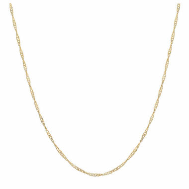 jcpenney.com | 10K Yellow Gold 013 Singapore  Chain Necklace