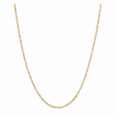 "jcpenney.com | 10K Yellow Gold 021 16"" Singapore Chain Necklace"