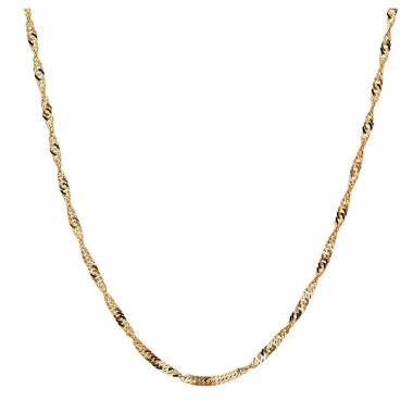 jcpenney.com | 10K Yellow Gold 025 Singapore Chain Necklace