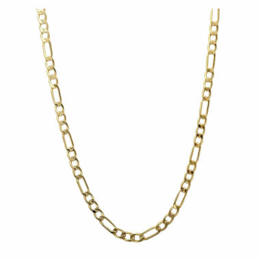 "jcpenney.com | 10K Yellow Gold 3.2mm 24"" Figaro Chain Necklace"