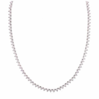 jcpenney.com | Diamonart Sterling Silver 1/7 CT. T.W. Cubic Zirconia Tennis Necklace