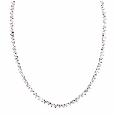 Diamonart Sterling Silver 1/7 CT. T.W. Cubic Zirconia Tennis Necklace