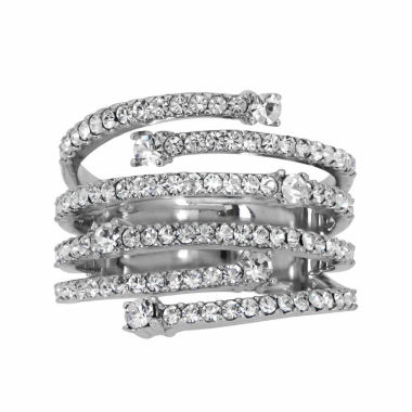 jcpenney.com | Womens White Crystal Cocktail Ring