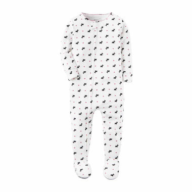 jcpenney.com | Carter's Girl White Dog 1pc PJ 12-24M