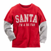 Carter's Boy Red Santa Tee 2T-5T