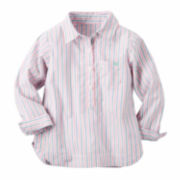 Carter's Girl Pink Stripe Shirt 2T-5T