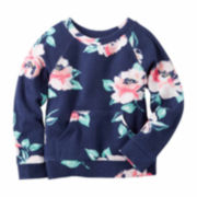 Carter's Girl Navy Floral Sweatshirt 2T-5T