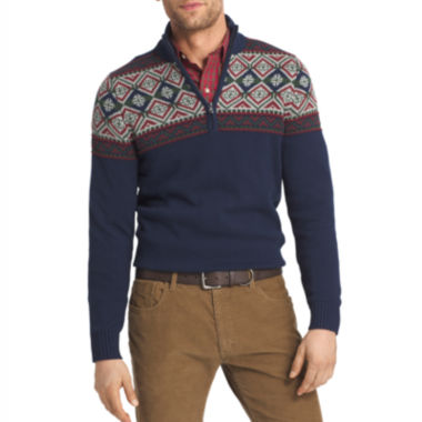 jcpenney.com | IZOD Long Sleeve Cotton Pullover Sweater