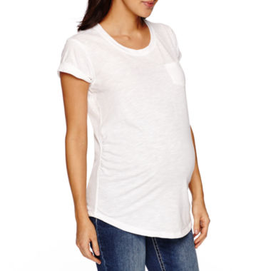 jcpenney.com | a.n.a Short Sleeve Scoop Neck T-Shirt-Maternity