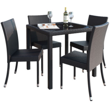 jcpenney.com | Sonax Park Terrace 5-pc. Patio Dining Set In Charcoal Black Rope Weave