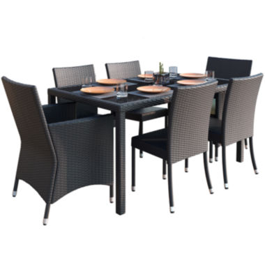 jcpenney.com | Sonax Park Terrace 7-pc. Charcoal Black Weave Patiodining Set