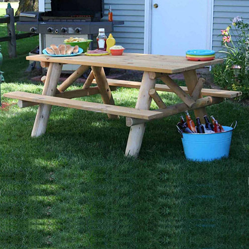 6' Picnic Table With Attached Benches