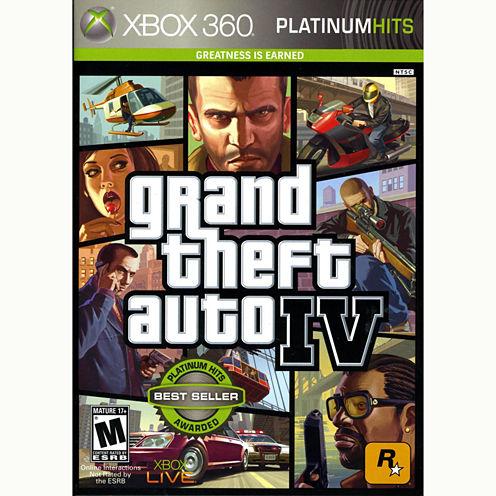 Grand Theft Auto Iv Video Game-XBox 360