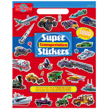 jcpenney.com | Super Transportation Stickers Activity Book