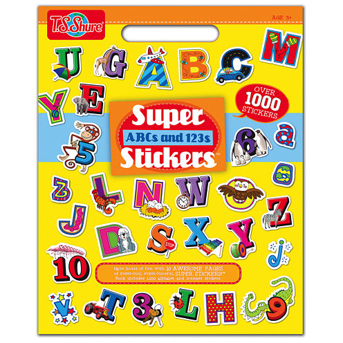 Super Abcs And 123s Stickers Activity Book
