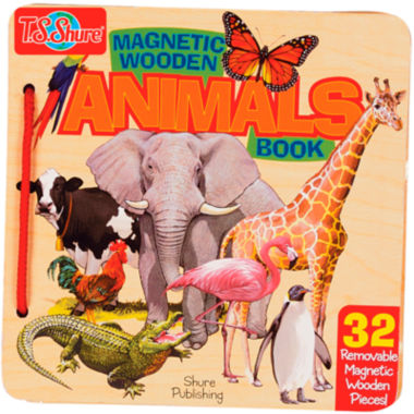 jcpenney.com | Animals Wooden Magnetic Activity Book