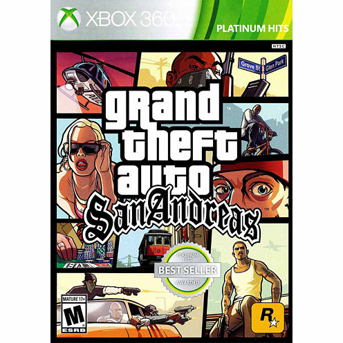 Grand Theft Auto San Andreas Video Game-XBox 360