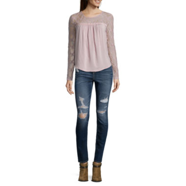 jcpenney.com | Arizona Lace Sleeve Top or Arizona Jeans