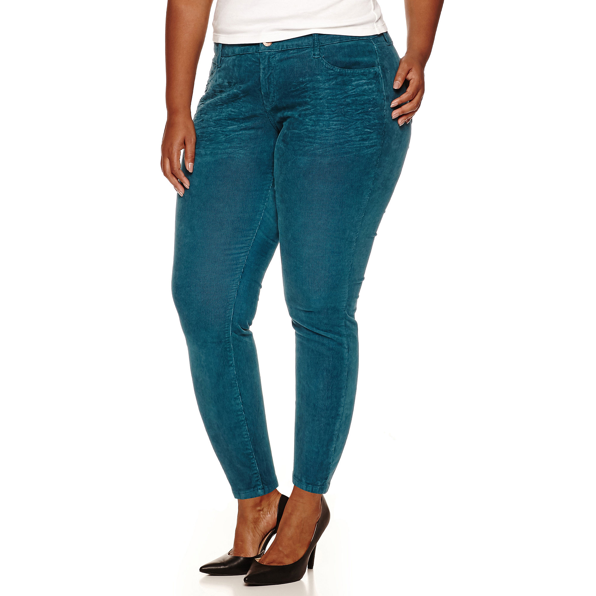 Arizona Skinny Fit Corduroy Pants - Juniors Plus plus size,  plus size fashion plus size appare