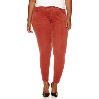 Arizona Skinny Fit Corduroy Pants - Juniors Plus - JCPenney