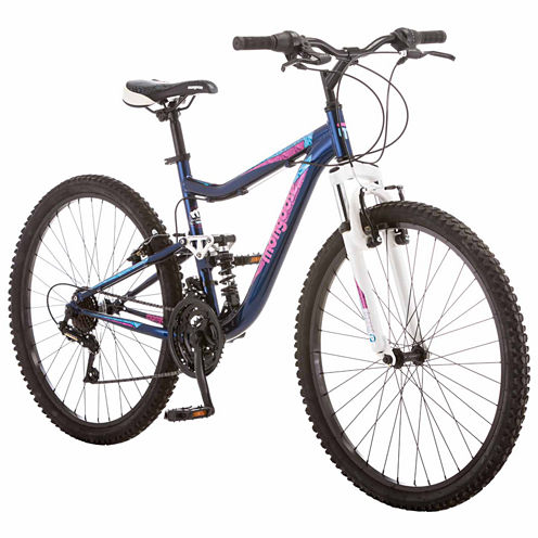 "Mongoose Status 2.2 26"" Womens Full Suspension Mountain Bike"