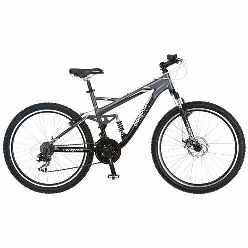 "Mongoose Detour 26"" Mens Full Suspension Mountain Bike"