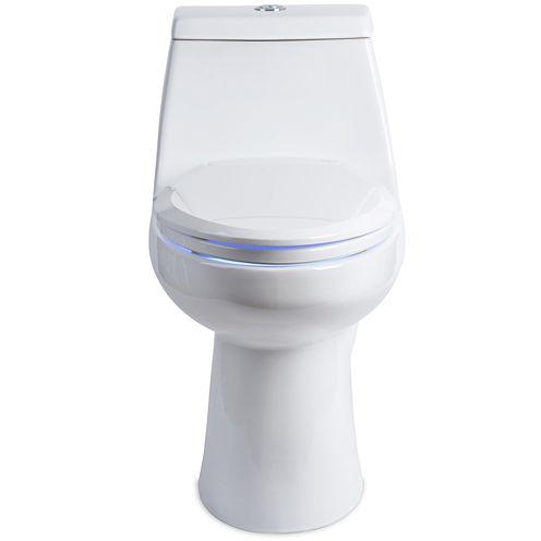 Brondell LumaWarm Heated Nightlight Elongated Toilet Seat