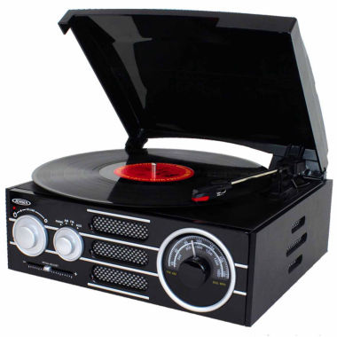 jcpenney.com | Jensen JTA-300 3-Speed Stereo Turntable with AM/FM Stereo Radio