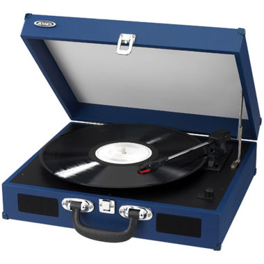 jcpenney.com | Jensen JTA-410 Portable 3-Speed Stereo Turntable with Built-In Speakers
