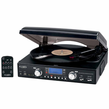 jcpenney.com | Jensen JTA-460 3-Speed Stereo Turntable with MP3 Encoding System and AM/FM Stereo Radio