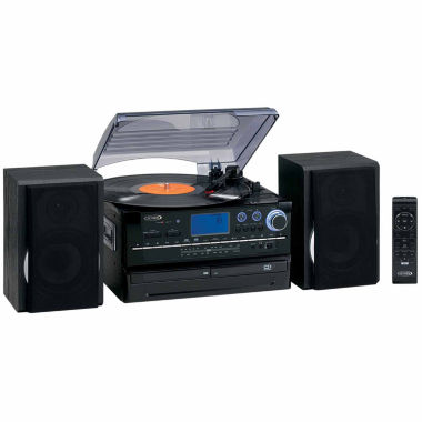 jcpenney.com | Jensen JTA-980 3-Speed Stereo Turntable 2-CD System with Cassette and AM/FM Stereo Radio